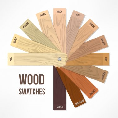 Wood round swatches