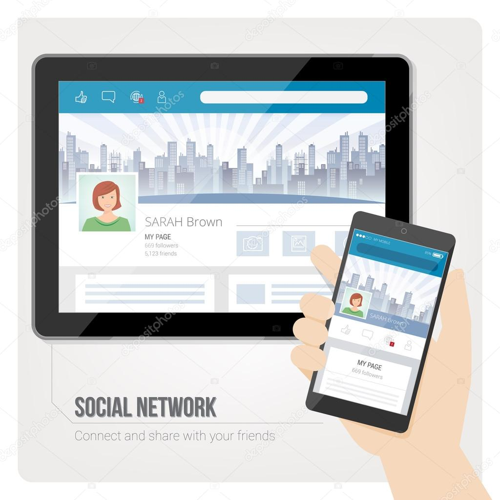 Social networks and user profiles