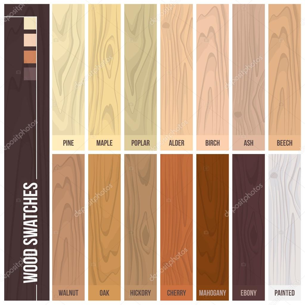 Wood Swatches Color Set Stock Vector 169 Elenabs 103550384