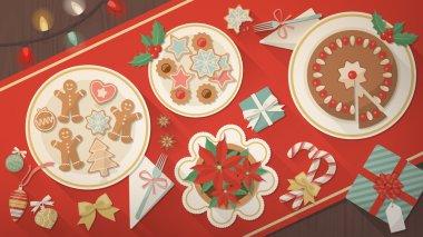 Christmas table banner