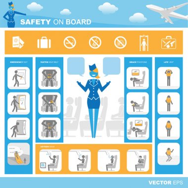 Safety on board background