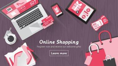 Online shopping desktop