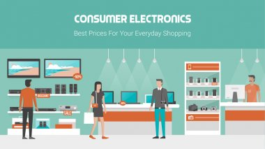 Electronics store banner