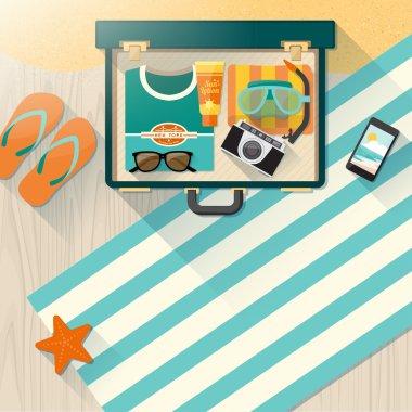 Summer holidays on the beach concept