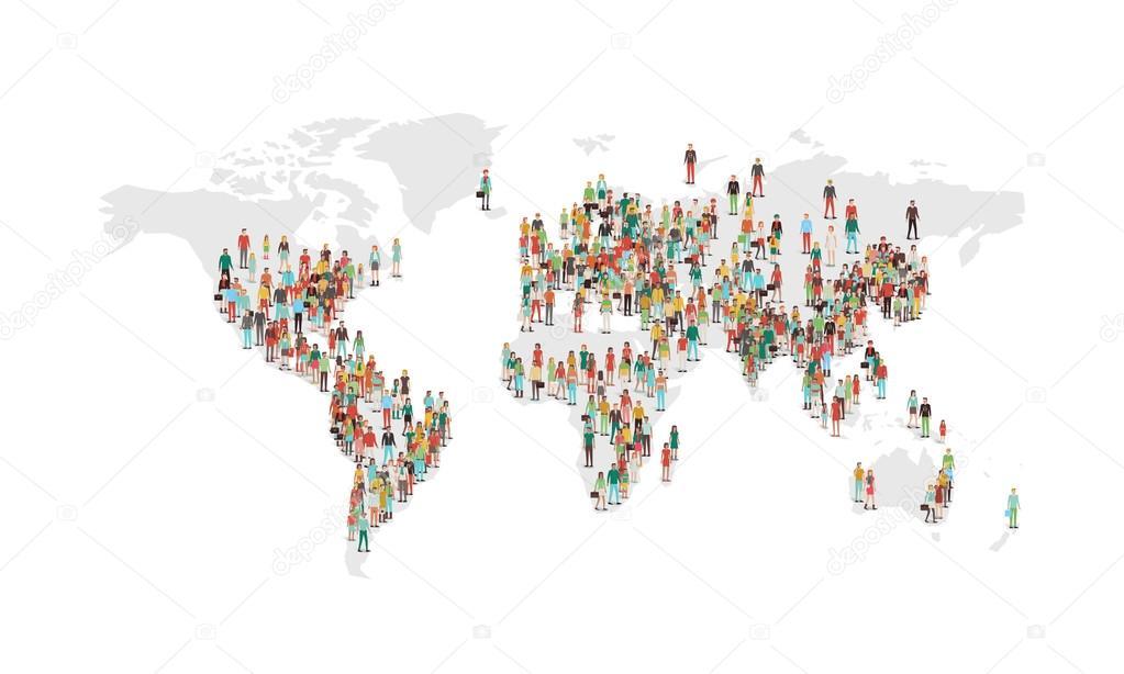 World Population Density Map Stock Vector Elenabs - World density map