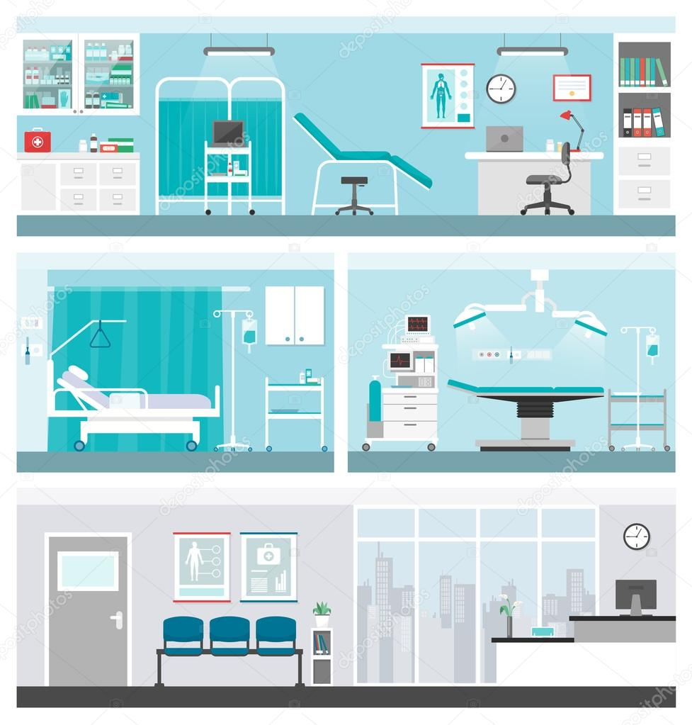 Hospital and healthcare banner set