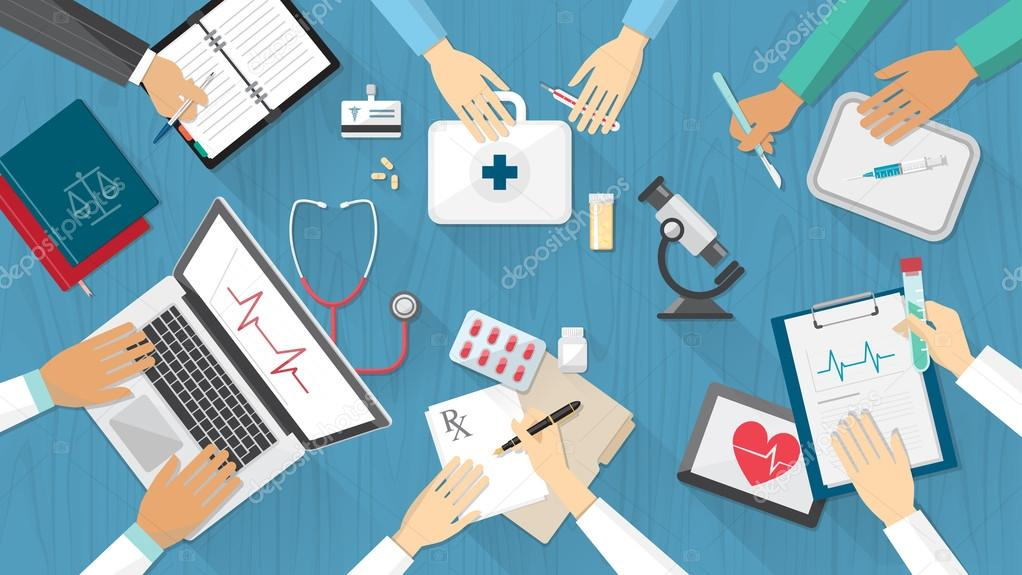 Medical team desktop