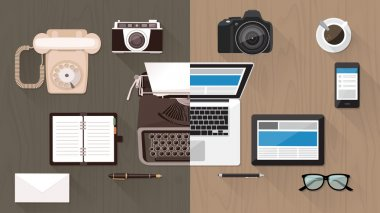 Desktop and devices evolution concept