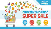 Grocery shopping discount banner