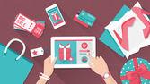 Fotografie Online nákupy a dodání koncepce