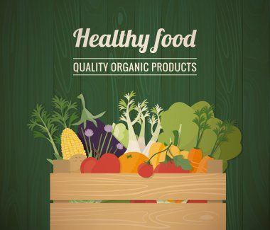 Healthy freshly harvested vegetables