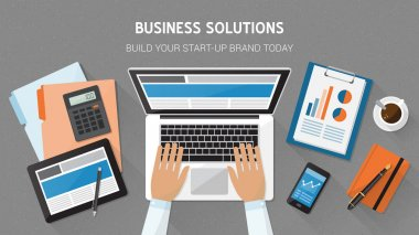Business, technology and freelancing concept