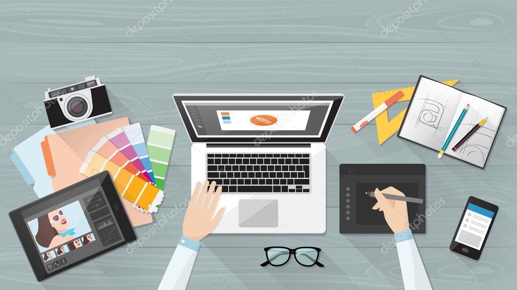 Professional creative graphic designer