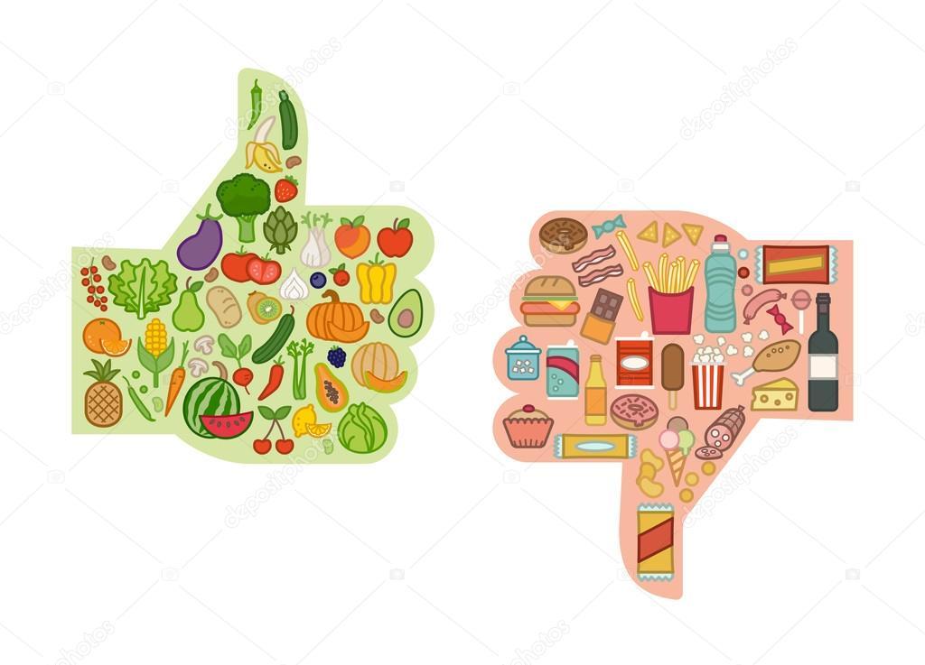 Resultado de imagen para dibujos de comida no saludable
