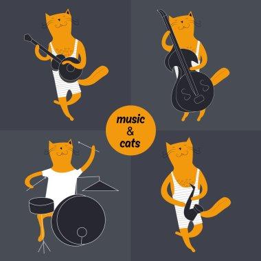 jazz band cat musician