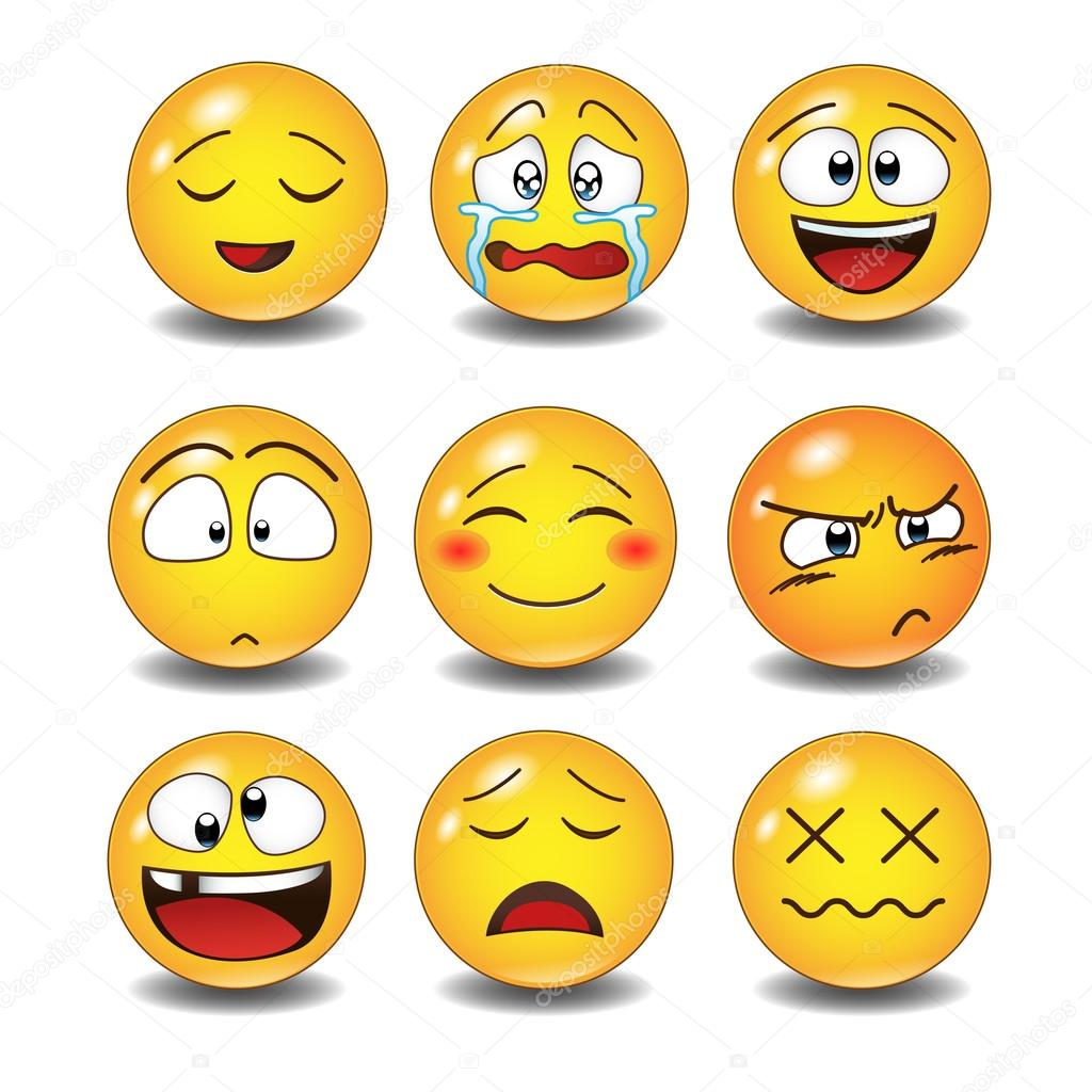 Set Of Emoticons Stock Vector C Aadneprov Mail Ru 109315884