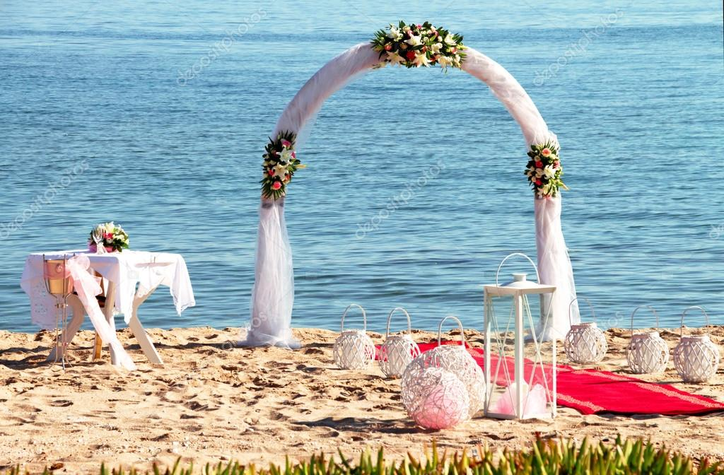 wedding arch on the beach