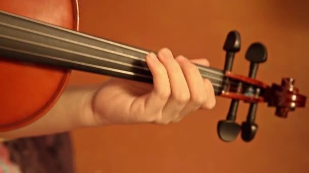 houslista hraje na housle