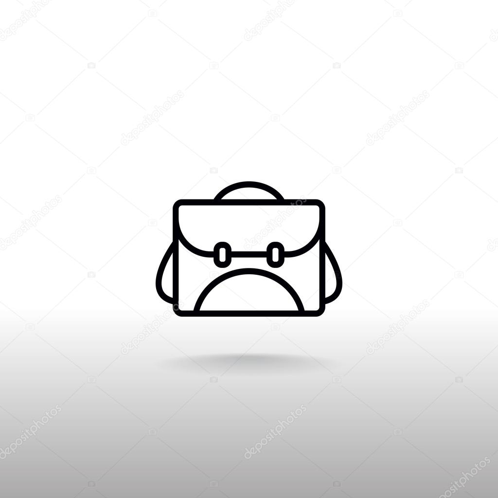 c8f708fd1e Icône de sac d'école. symbole d'étudiant de sac à dos. illustration  vectorielle — Vecteur par Mr.Webicon  ...