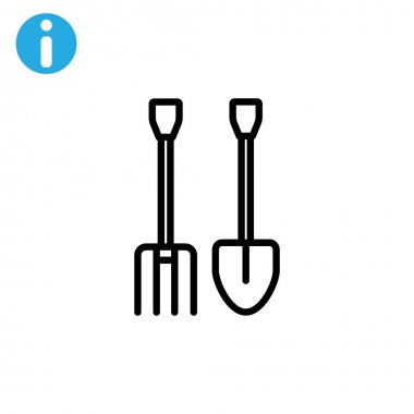 pitchfork shovel icon