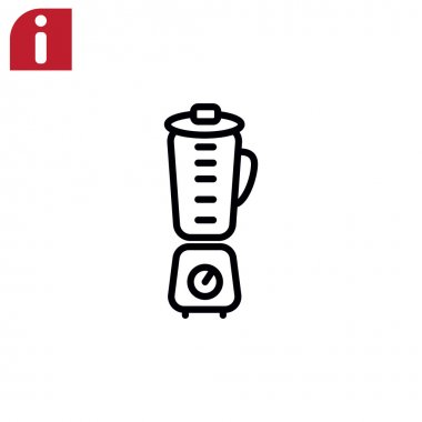 electric blender icon.