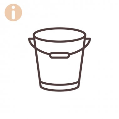Outline bucket icon