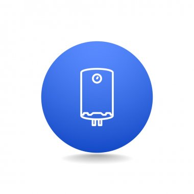 Water boiler icon. outline vector illustration clip art vector