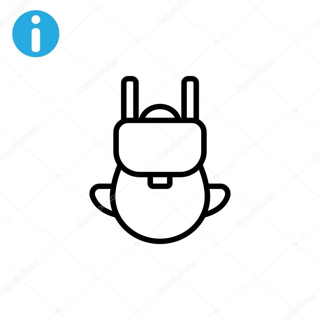 448e69db24 icône de tourisme sac à dos — Image vectorielle Mr.Webicon © #102031112