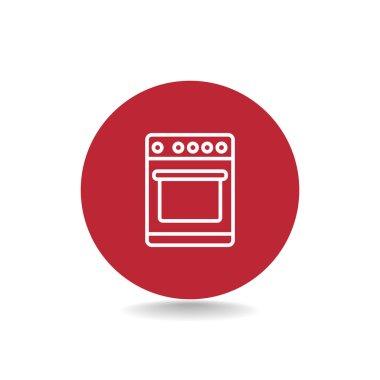 Kitchen stove icon. household appliance symbol. vector illustration clip art vector