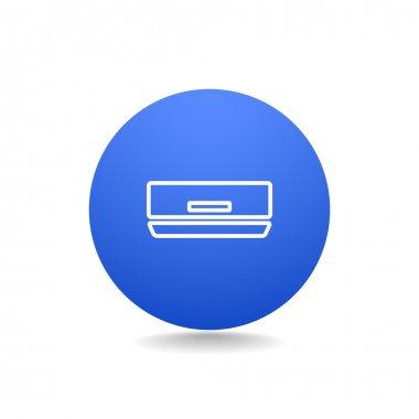 Air conditioner icon. line symbol. vector illustration clip art vector