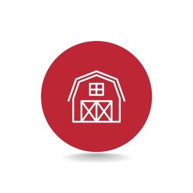 Flat hangar icon