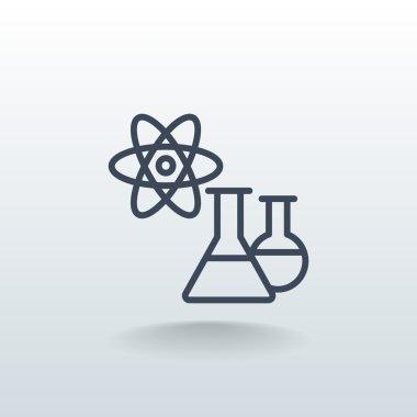 laboratory beakers icon
