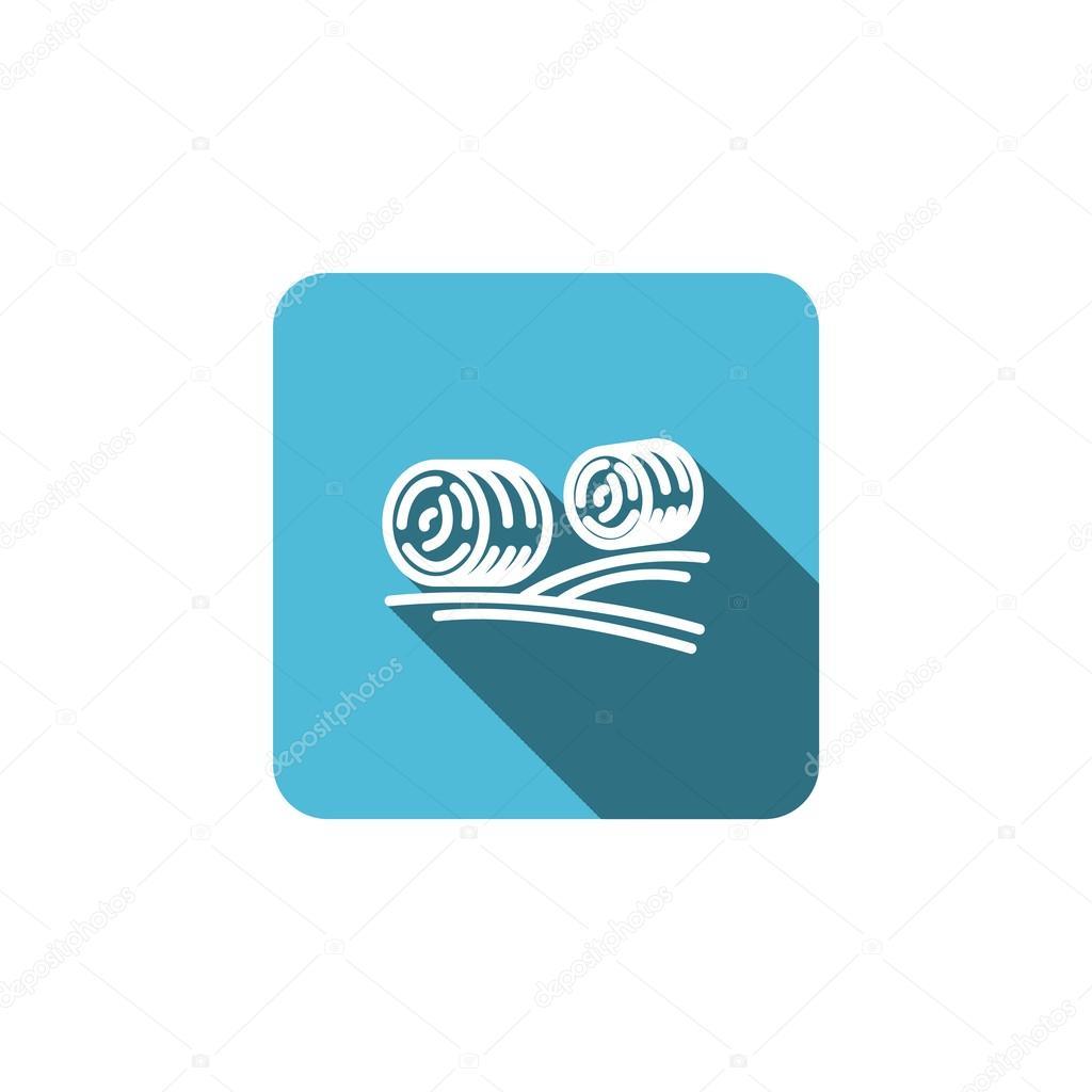 Flat harvest straw icon