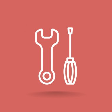 Key and screwdriver icons
