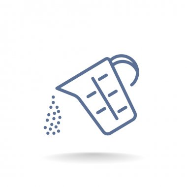 Kitchen measuring cup icon. cooking utensil symbol. vector illustration clip art vector
