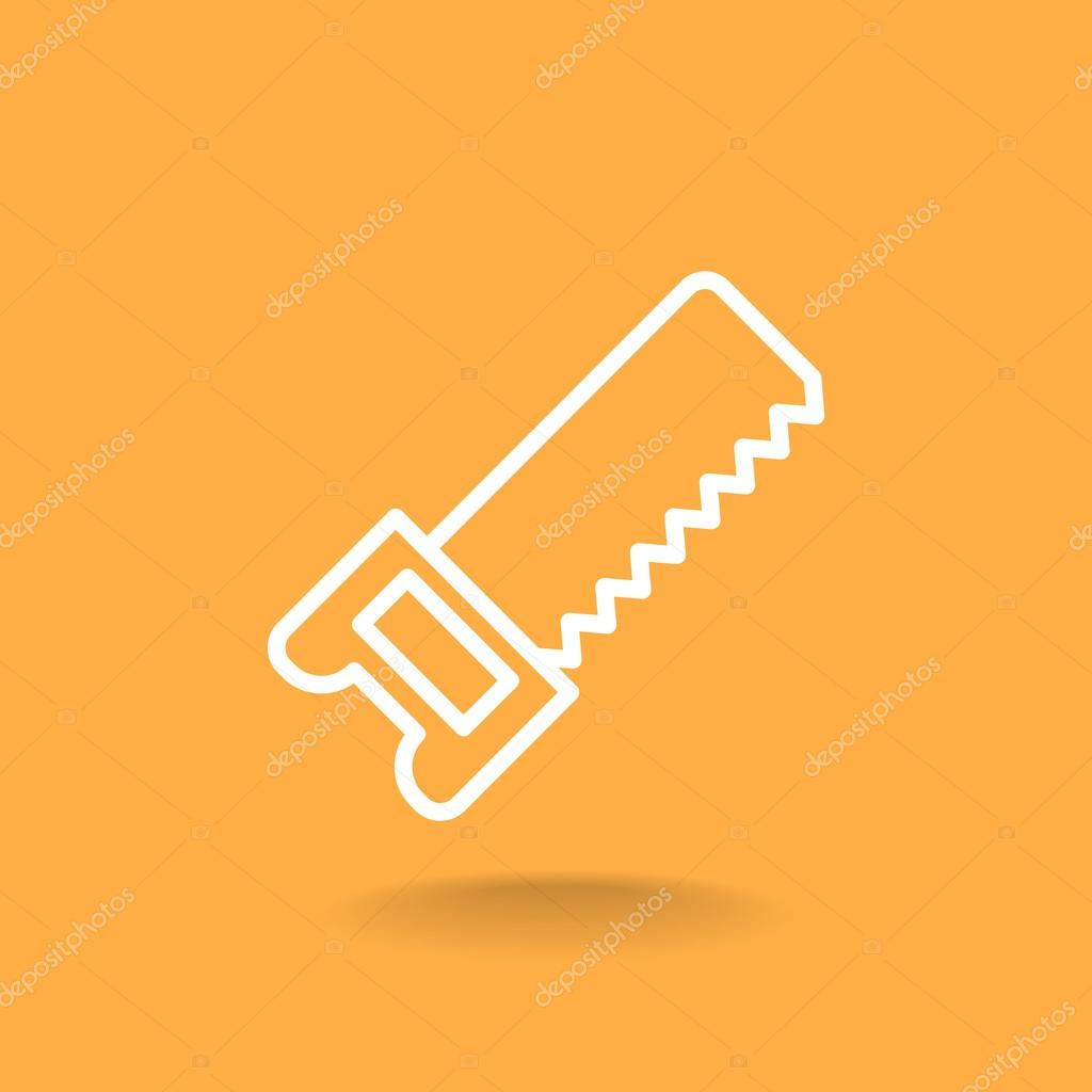 hacksaw on wood icon