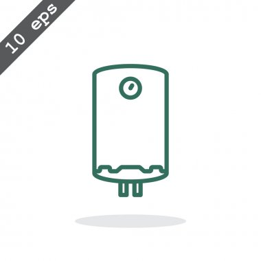 Water boiler icon. vector illustration clip art vector