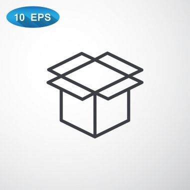 packaging cardboard box icon