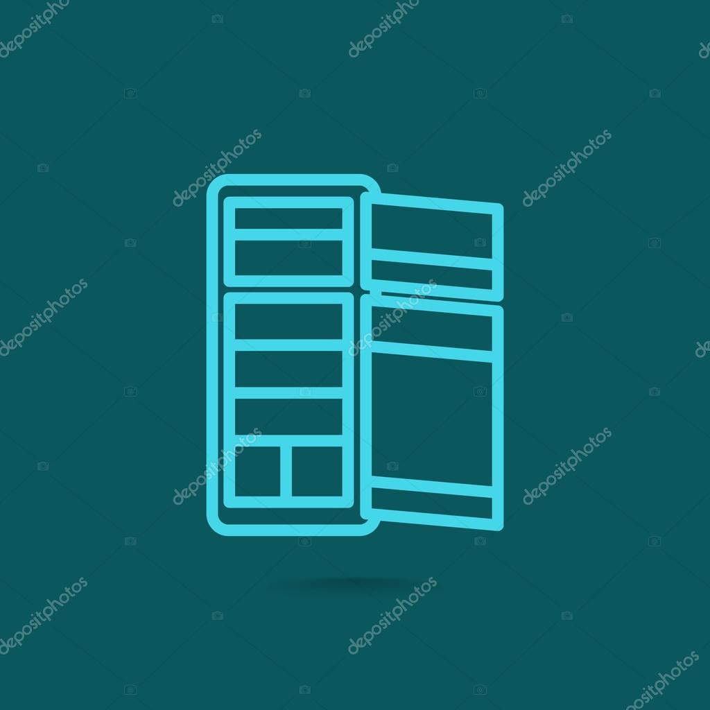 Refrigerator classic icon