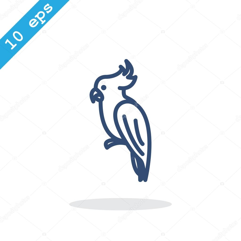 outline parrot icon stock vector 102771970