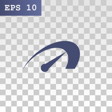 arrow of speedometer icon.