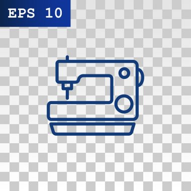 Sewing machine icon. tailor symbol. vector illustration stock vector