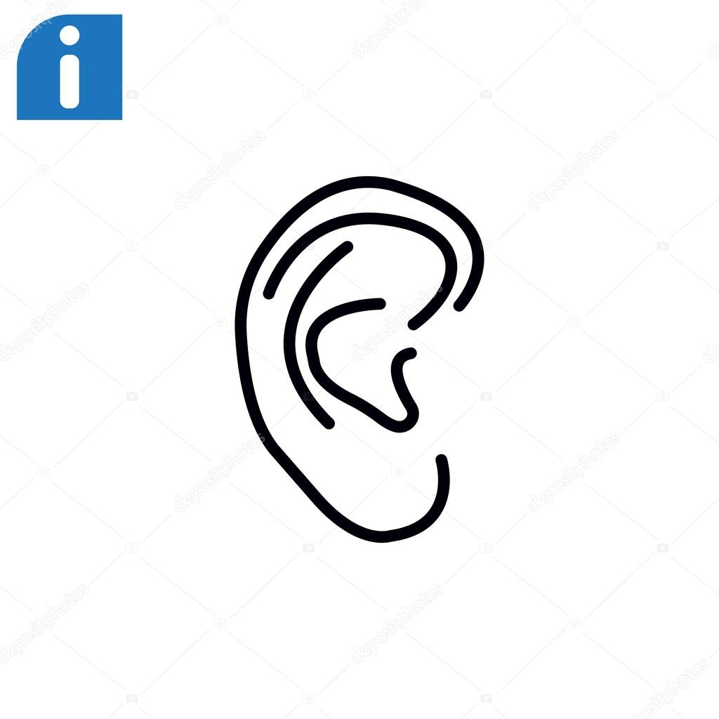 Menschliche Ohr-Symbol — Stockvektor © Mr.Webicon #104478146