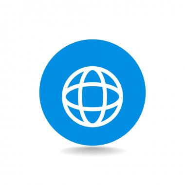 Earth web icon.