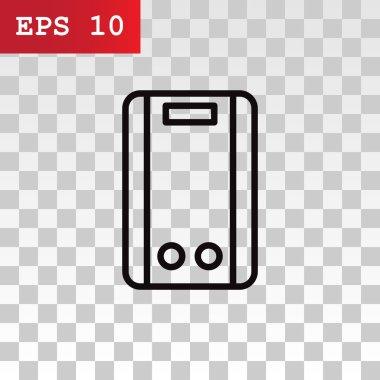 Gas water heater icon. vector illustration clip art vector