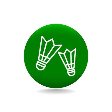 badminton icon. Shuttlecocks