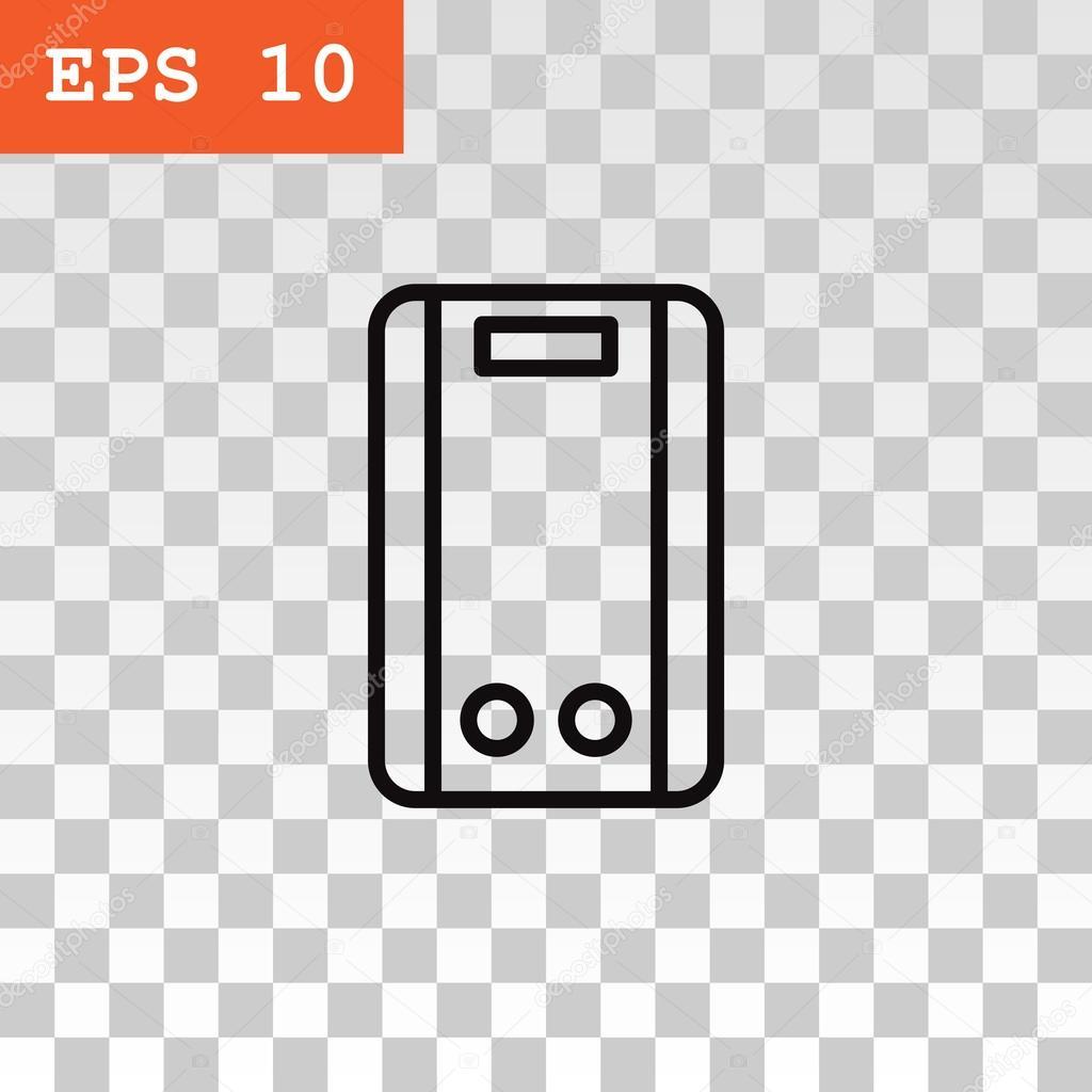 elektrische Wasser-Kessel-Symbol — Stockvektor © Mr.Webicon #111944266