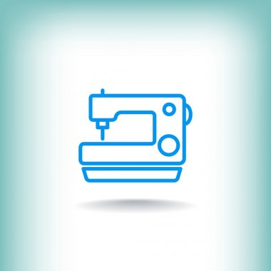 Sewing machine icon. vector illustration stock vector
