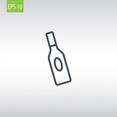 bottle of glass for liquid icon