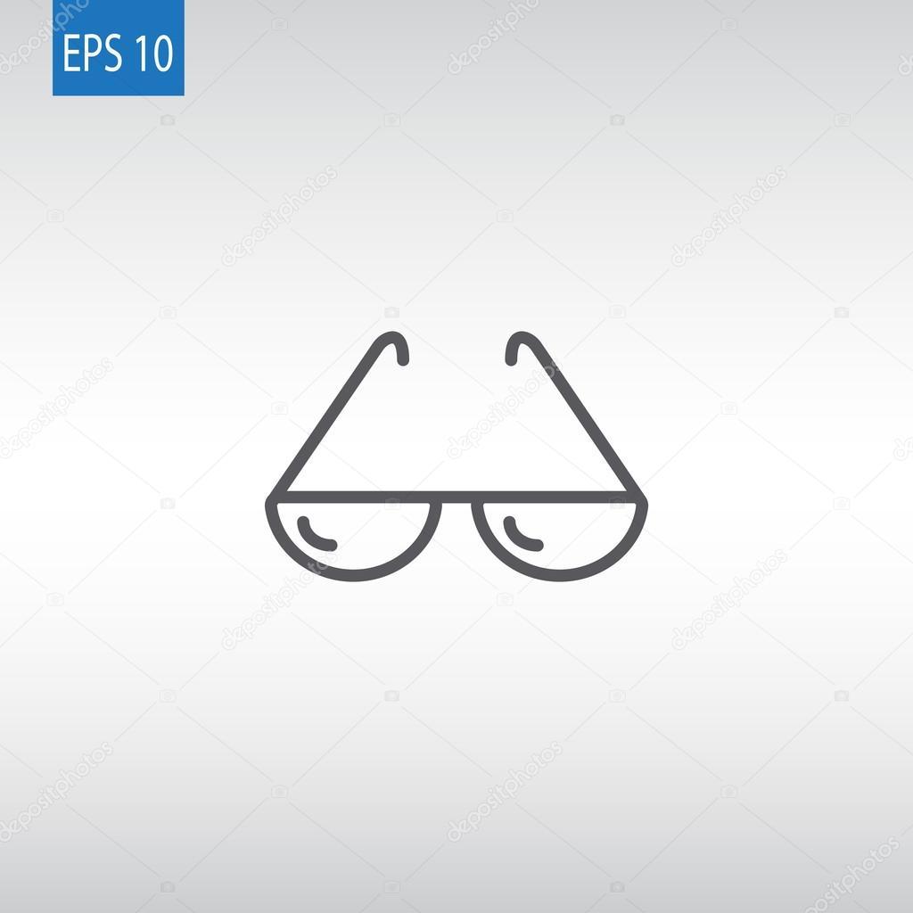 Vektoros illusztráció napszemüveg web ikon — Vektorok Mr.Webicon szerint e8338a3ed7
